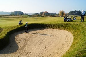 a bunker on a golf course